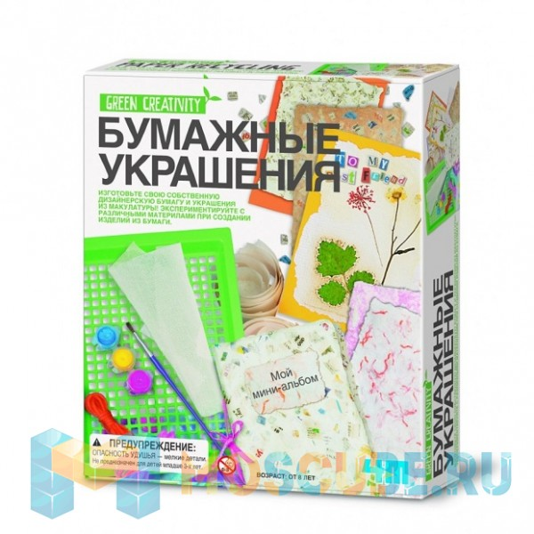 Набор 4M Green Creativity Бумажные Украшения 00-04562