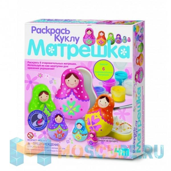 Набор 4M Раскрась Куклу Матрешка 00-04617