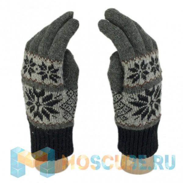 Сенсорные Перчатки Анд. (Cнежинки) - Темно-серый