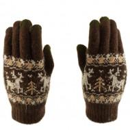 Сенсорные перчатки Touch gloves (Олени) Коричневый