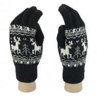 Сенсорные перчатки Олени (Черный)