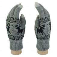 Сенсорные перчатки Олени (Темно-серый)