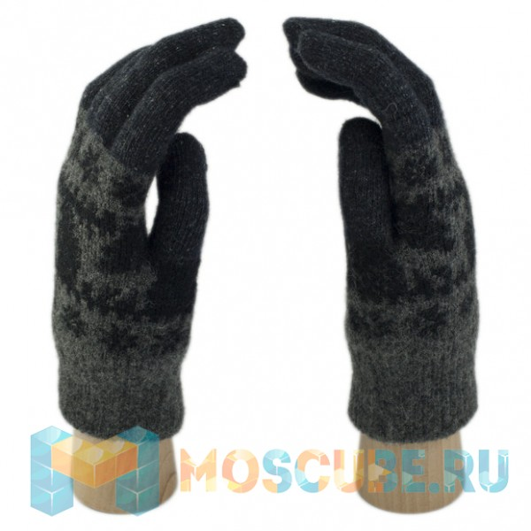 Шерстяные Сенсорные перчатки Олени (Темно-серый)