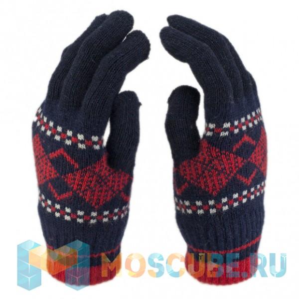 Сенсорные Перчатки Ромбы Синий/красный