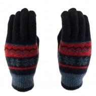 Сенсорные перчатки Smart Touch (Снежинки) Синий/Красный