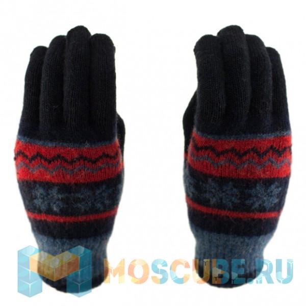 Сенсорные перчатки Снежинки Синий/Красный