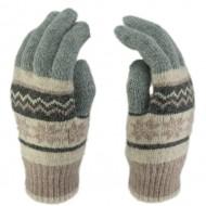 Сенсорные перчатки Снежинки Кремовые
