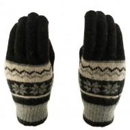 Перчатки Снежинки Темно-серые (не сенсорные)