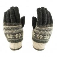 Сенсорные перчатки Smart Touch (Снежинки) Cерые