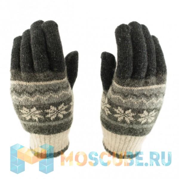 Сенсорные перчатки Снежинки Cерые