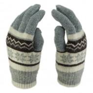 Сенсорные перчатки Снежинки Светло-серые