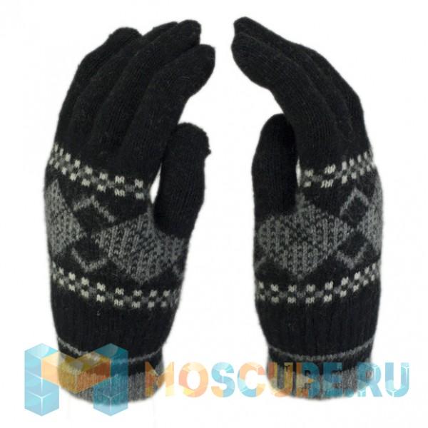 Сенсорные Перчатки Ромбы Черный/серый