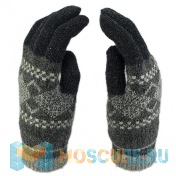 Сенсорные Перчатки Ромбы Серый/черный