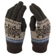 Сенсорные Перчатки Снежинка (Коричневый)