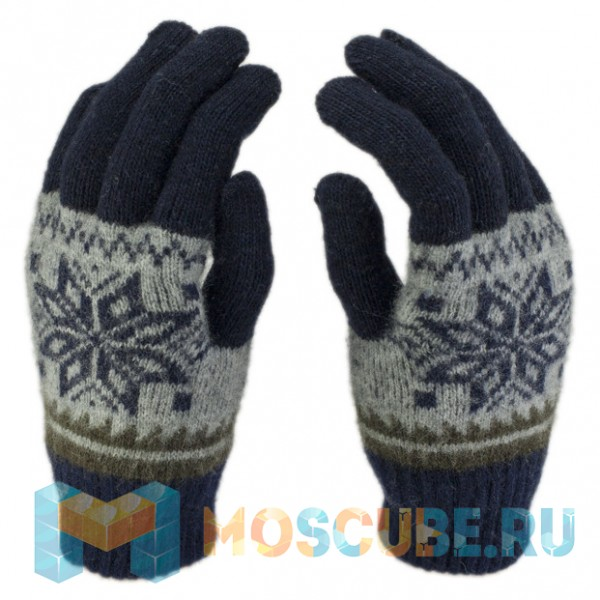 Сенсорные Перчатки Снежинка (Синий)