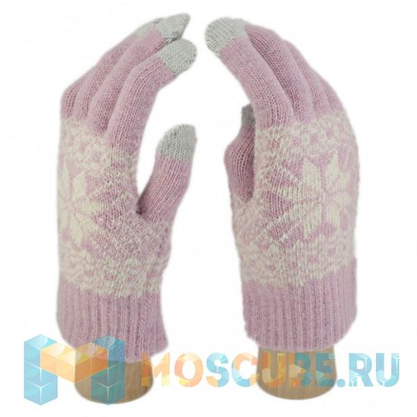 Сенсорные Перчатки Снежинка Л. (светло-розовый)
