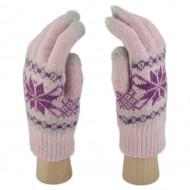 Сенсорные Перчатки Снежинка Л. (розовый)