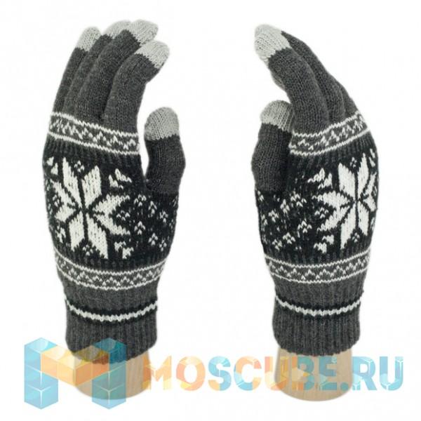 Сенсорные Перчатки Снежинка М. (серый)