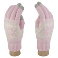 Сенсорные Перчатки Снежинка М. (светло-розовый)