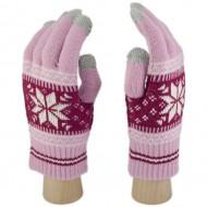 Сенсорные Перчатки Снежинка М. (розово-красный)
