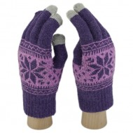 Сенсорные Перчатки Снежинка М. (фиолетовый)