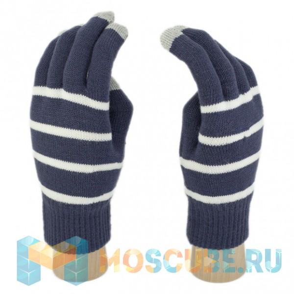 Сенсорные Перчатки Полоска (Синий)