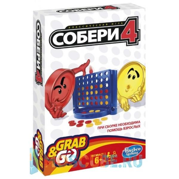 Настольная игра Hasbro Собери 4 (дорожная) B1000