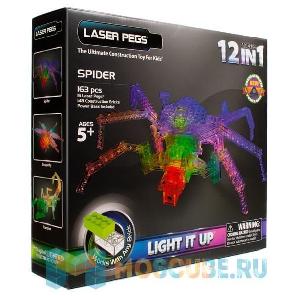 Конструктор Laser Pegs Паук 12 в 1 G1700B