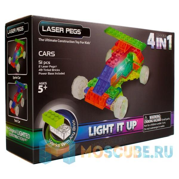 Конструктор Laser Pegs Машины Машины 4 в 1 MPS300
