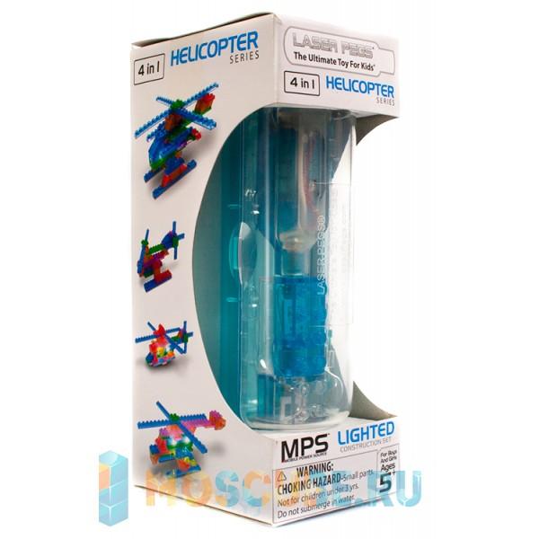 Конструктор Laser Pegs Вертолёты в футляре 4 в 1 MPS400