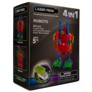 Конструктор Laser Pegs Роботы 4 в 1 MPS200B
