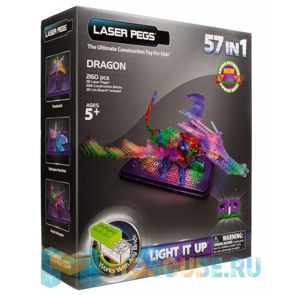 Конструктор Laser Pegs Дракон с 3D панелью 57 в 1 G1070B