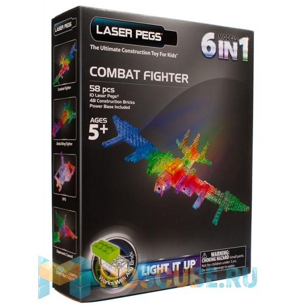Конструктор Laser Pegs Боевой истребитель 6 в 1 G9005B