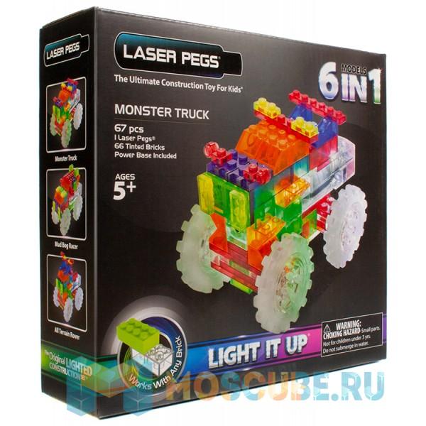 Конструктор Laser Pegs Гигантский грузовик 6 в 1 ZD110B