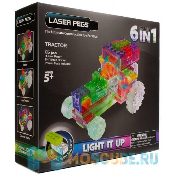 Конструктор Laser Pegs Трактор 6 в 1 ZD120B