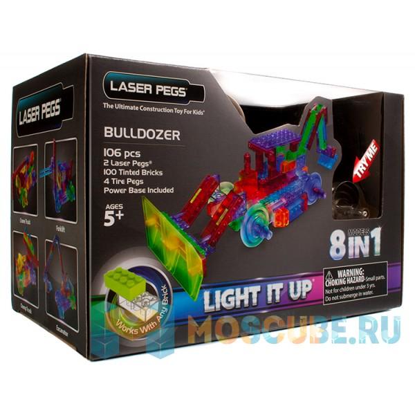 Конструктор Laser Pegs Бульдозер 8 в 1 PB1420B
