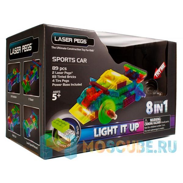 Конструктор Laser Pegs Спортивный автомобиль 8 в 1 PB1410B