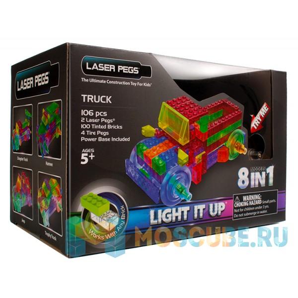 Конструктор Laser Pegs 8 в 1. Грузовик c цветными деталями PB1430B