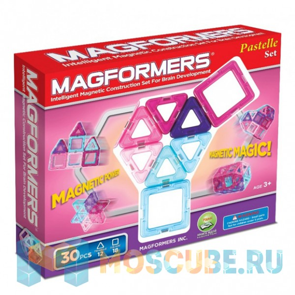 MAGFORMERS 63097 30 Pastelle