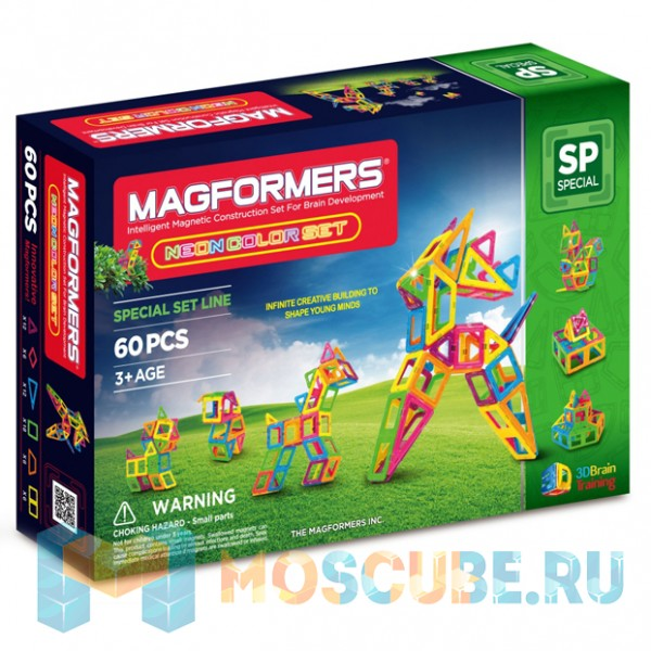 MAGFORMERS 63110 Neon color set 60