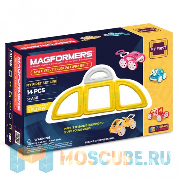 MAGFORMERS 63144 My First Buggy желтый