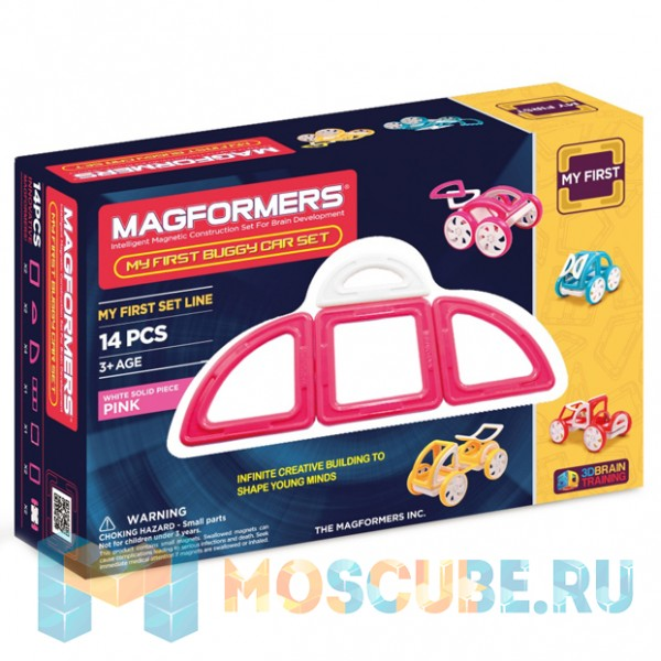 MAGFORMERS 63147 My First Buggy розовый