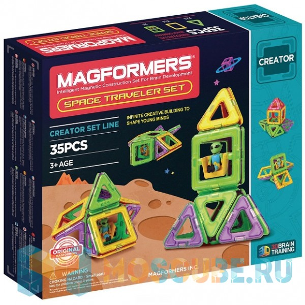 MAGFORMERS 703007 Space Traveler set