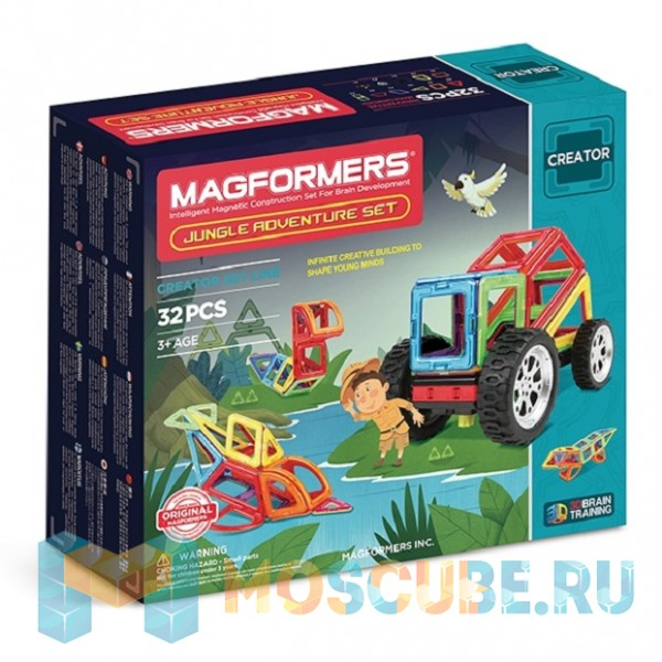 MAGFORMERS 703009 Adventure Jungle 32 set