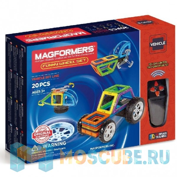 MAGFORMERS 707012 Funny Wheel Set 20