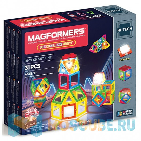 MAGFORMERS 709007 Neon Led set
