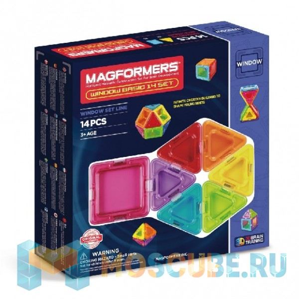 MAGFORMERS 714001 Window Basic 14 set