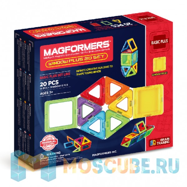 MAGFORMERS 715001 Window Plus Set 20 set