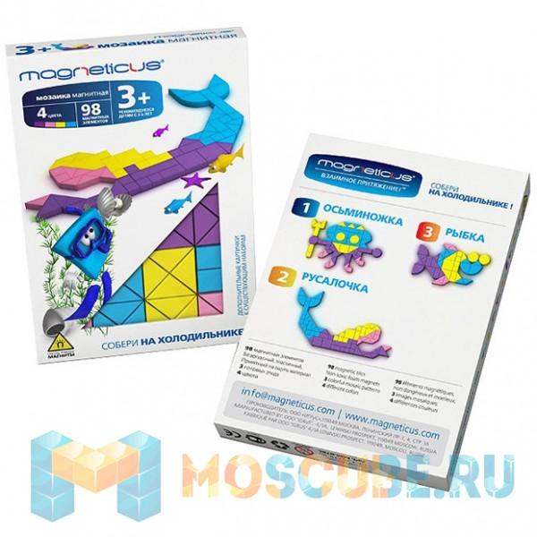 Мягкая магнитная мозаика MAGNETICUS ''Русалочка'' (98 элементов) MM-07BL
