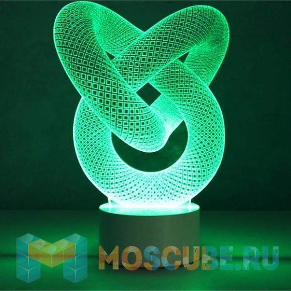 """3D светильник """"Абстракция"""""""